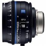 Zeiss CP.3 18mm T/2.9 Compact Prime Cine Lens - PL Mount | Available in Feet and Meter Scale (2186-839 / 2186-834)
