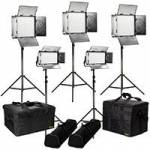 Ikan RB-3F2H (RB3F2H) Rayden Bi-Colour 5-Point LED Light Kit with 3x RB10 & 2x RB5