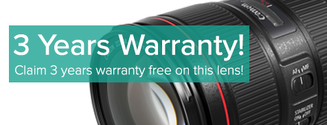 3 year warranty on canon L series Lens