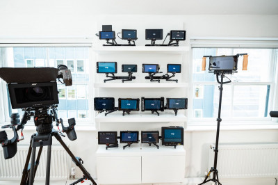 Want to compare monitors? Our monitor wall installation in our Newman Street space may be perfect for you!
